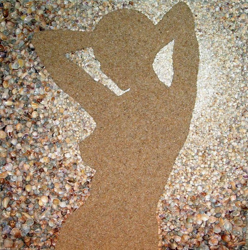 mozaikaizpeska 7 Мозаика из песка и ракушек от Светланы Иванченко