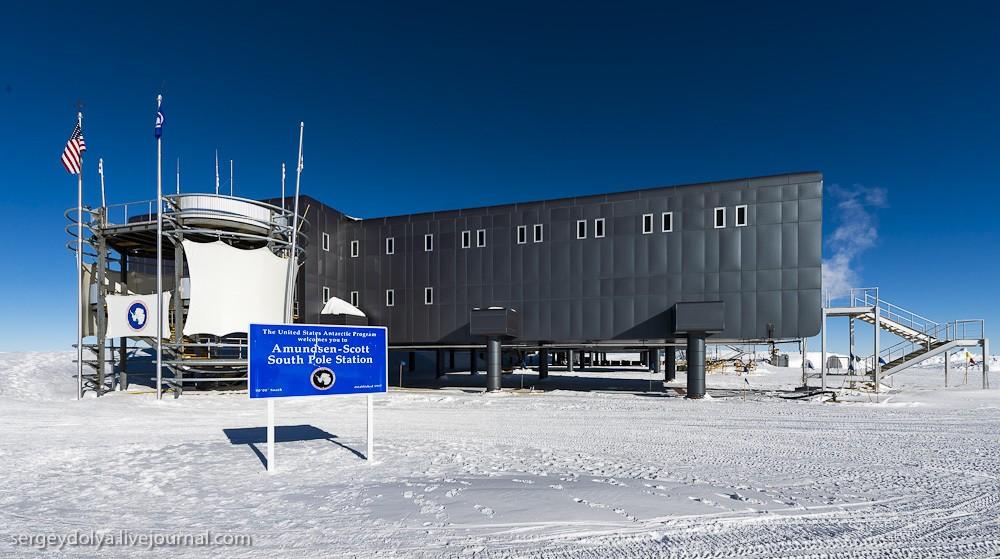 restation01 Антарктическая станция на Южном полюсе Амундсен   Скотт