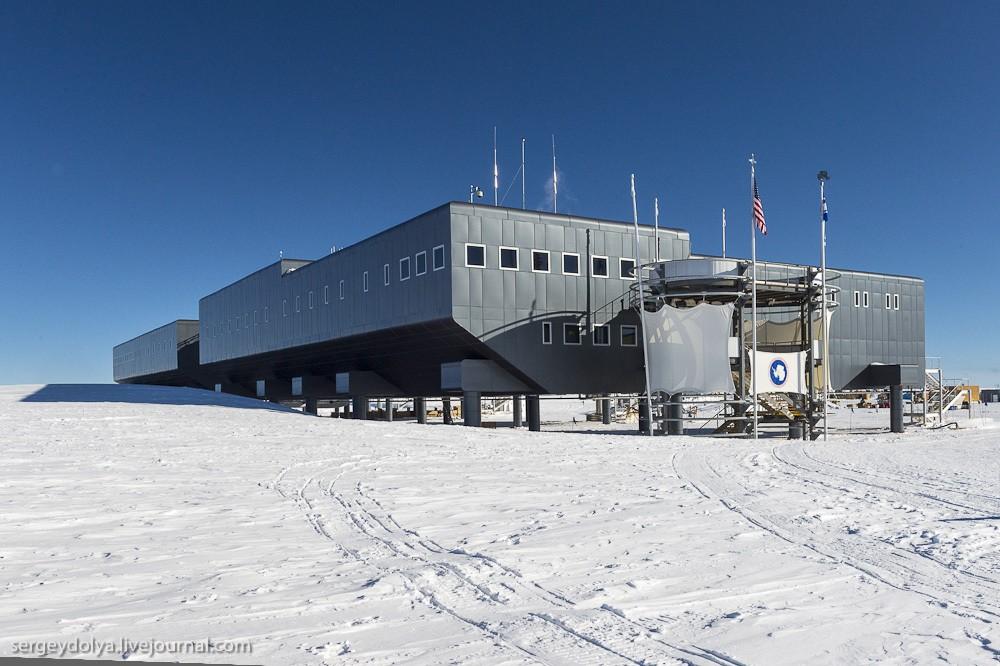 restation07 Антарктическая станция на Южном полюсе Амундсен   Скотт