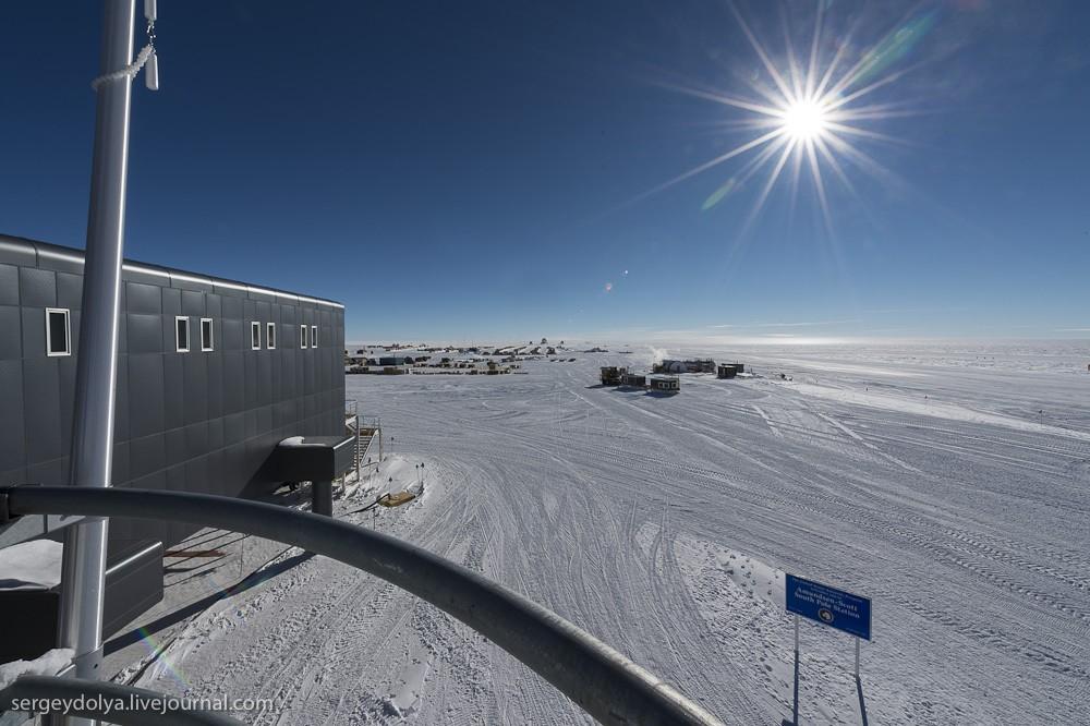restation18 Антарктическая станция на Южном полюсе Амундсен   Скотт