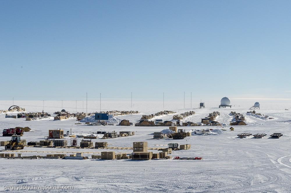 restation19 Антарктическая станция на Южном полюсе Амундсен   Скотт
