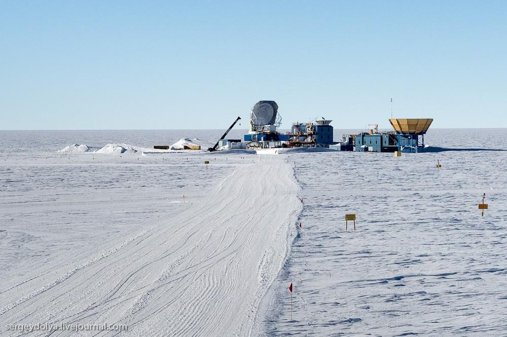 restation20 Антарктическая станция на Южном полюсе Амундсен   Скотт
