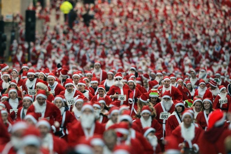 Забеги Санта Клаусов охватили Европу