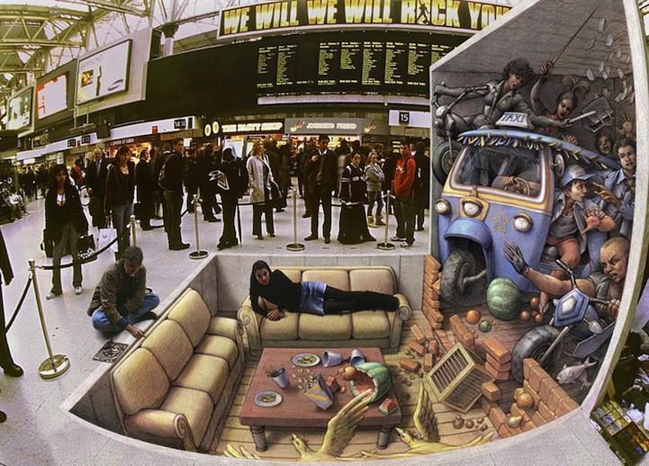 3dstreetart01 Трехмерный стрит арт от Курта Веннера