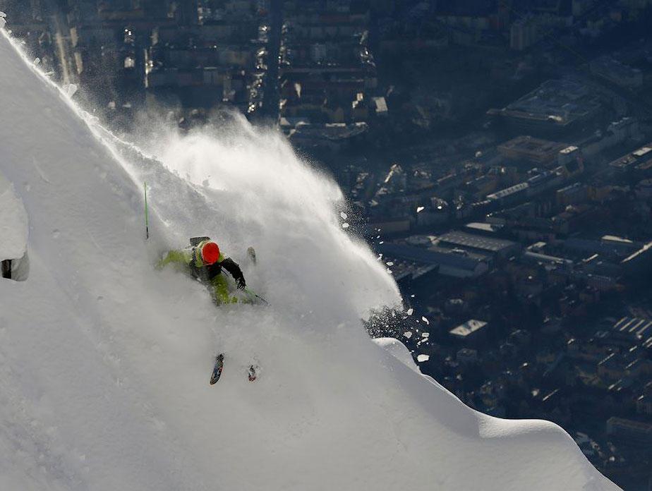 BIGPIC2 Горнолыжный спуск в небе над Инсбруком