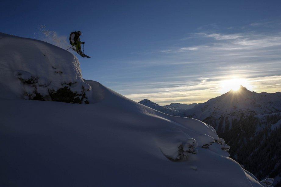 Innsbruck10 Горнолыжный спуск в небе над Инсбруком