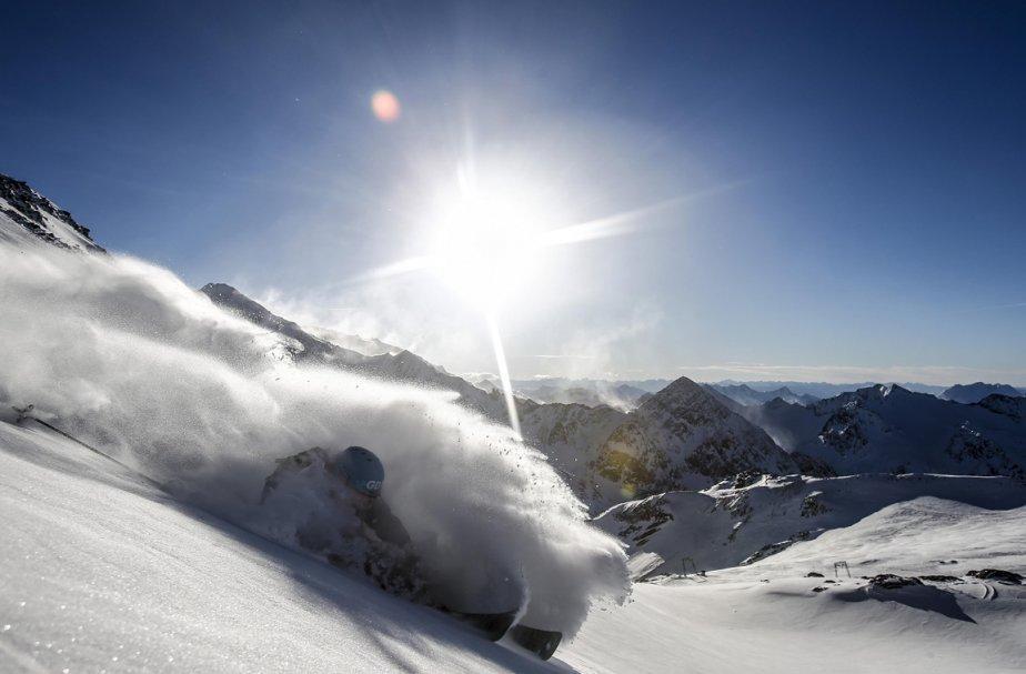 Innsbruck17 Горнолыжный спуск в небе над Инсбруком