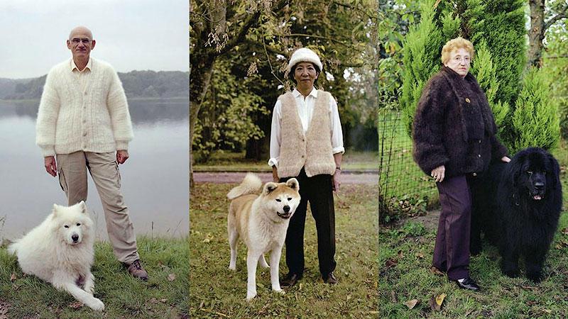 TEMP50 Владельцы собак носят одежду из шерсти своих питомцев