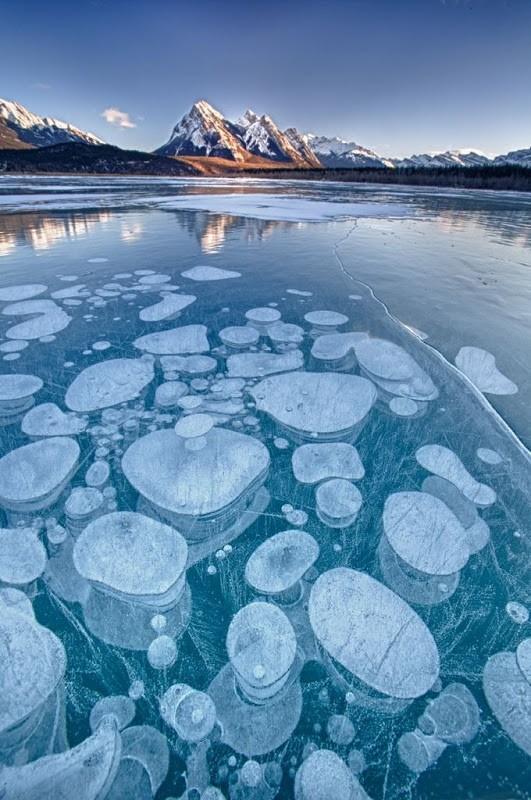 abrahamlake02 Замерзшие пузырьки воздуха в озере