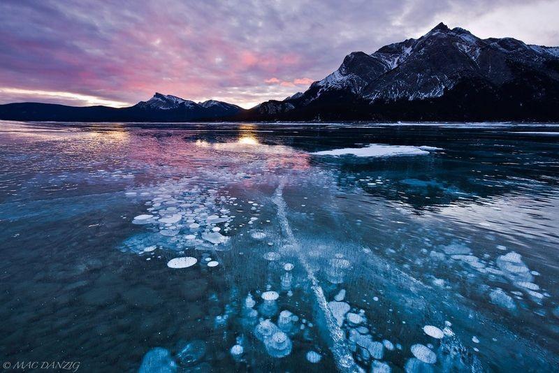abrahamlake08 Замерзшие пузырьки воздуха в озере