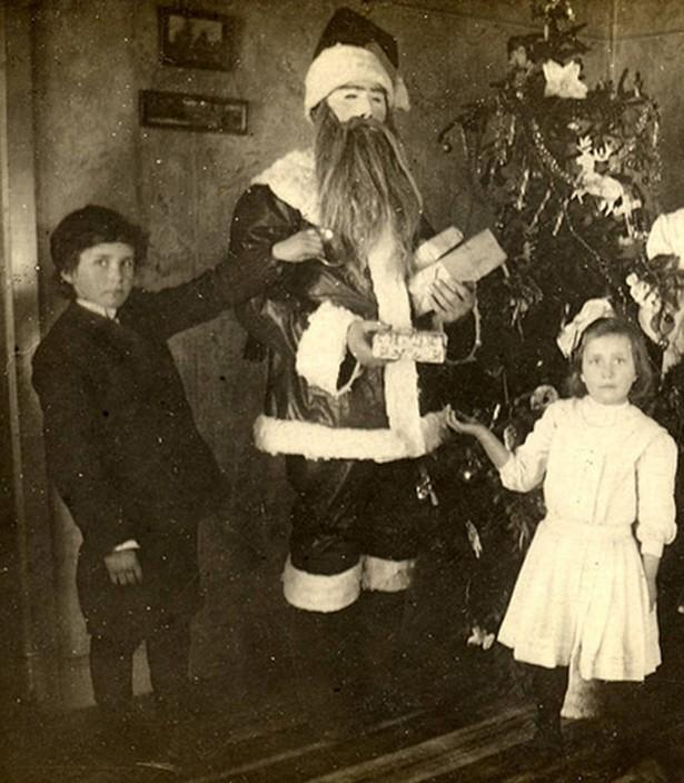Evil and scary Santa Claus