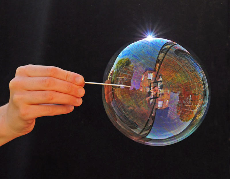 milniepuziri 11 Мир в отражении мыльных пузырей