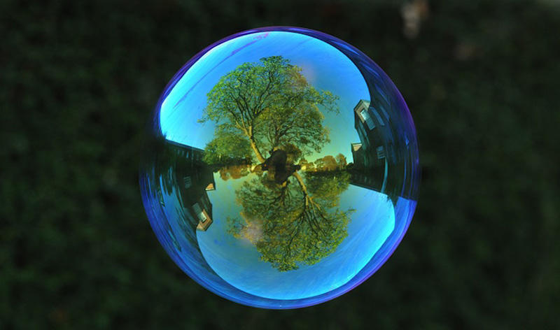 milniepuziri 12 Мир в отражении мыльных пузырей