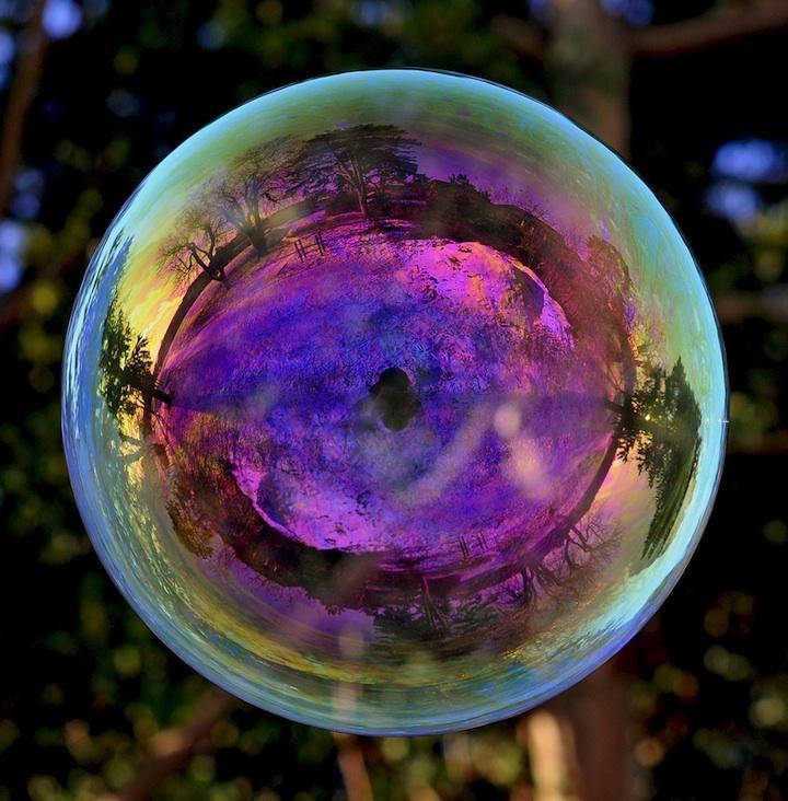 milniepuziri 14 Мир в отражении мыльных пузырей