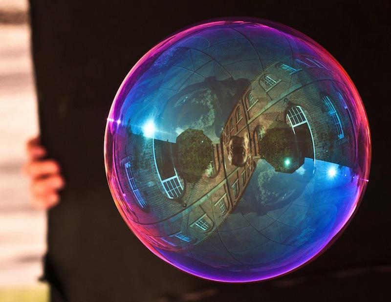 milniepuziri 15 Мир в отражении мыльных пузырей