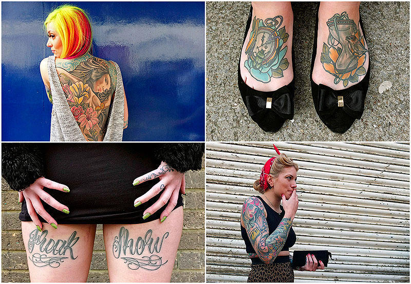 BIGPIC45 Брайтонский съезд татуировщиков в Великобритании