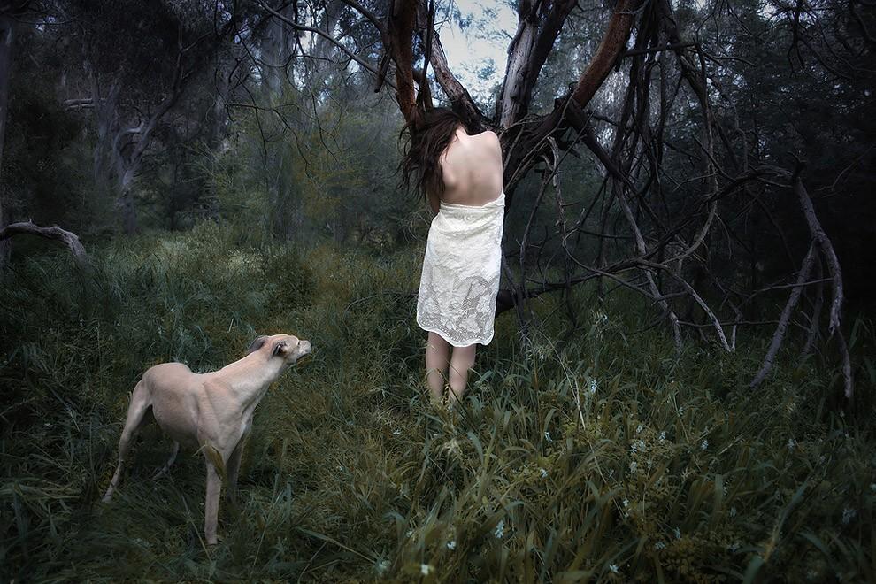 Раком пленницу в лесу 159