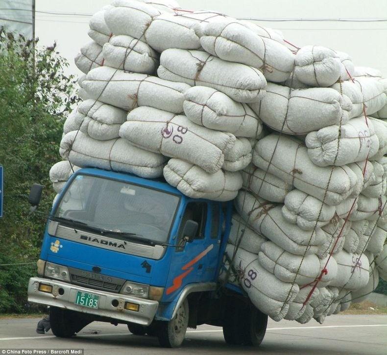 overload011 Перегруженный транспорт Китая