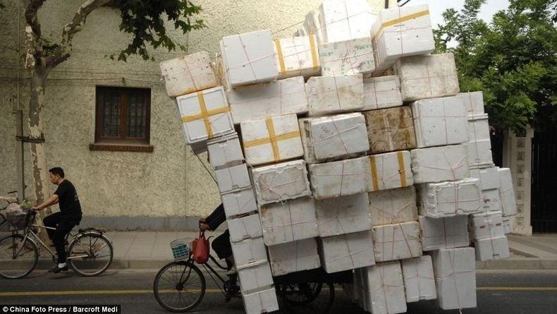 overload051 Перегруженный транспорт Китая