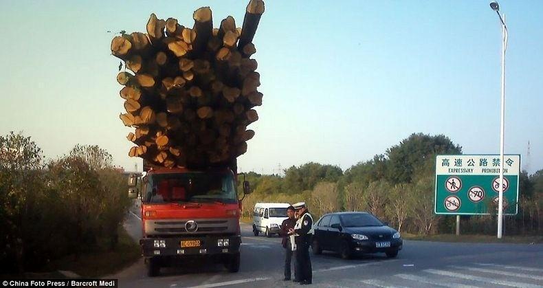 overload121 Перегруженный транспорт Китая