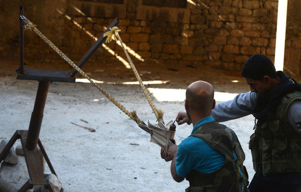 un samodelnieorujiya armas improvisadas rebeldes sirios