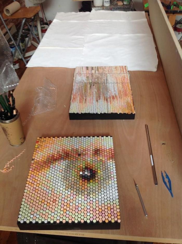 Pixelated08 Поразительные пиксельные портреты из упаковочной пленки