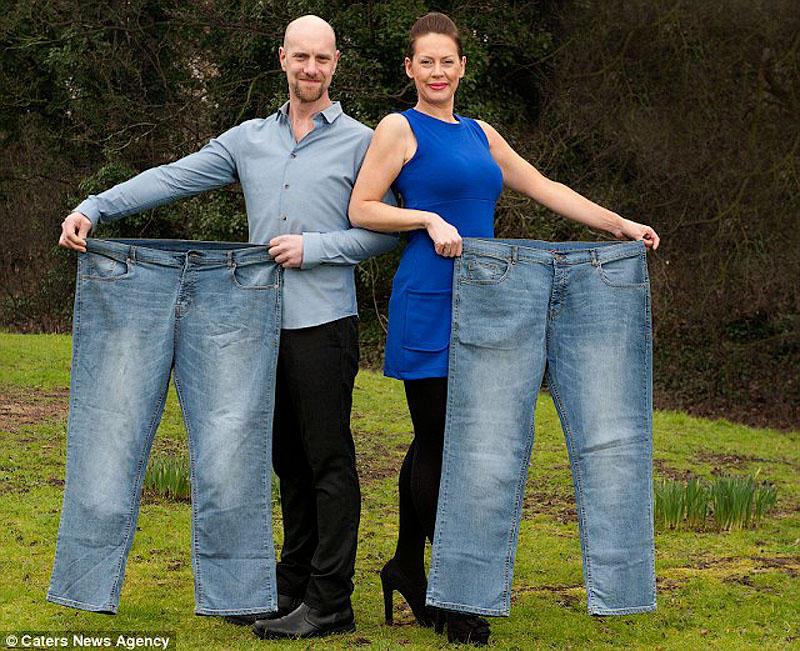 Мы похудели вместе! Пара потеряла 90 килограмм на двоих, используя приставку Nintendo Wii