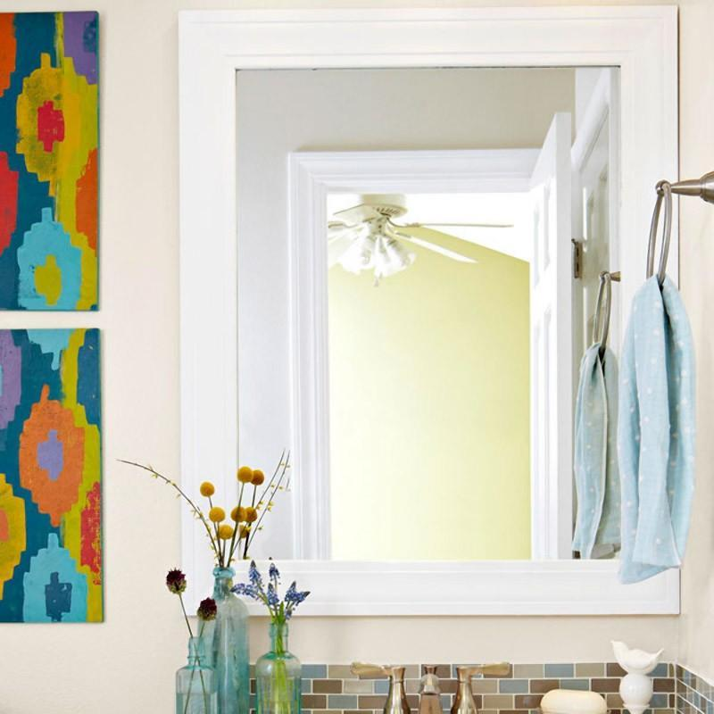 Diy bathroom mirror frame ideas