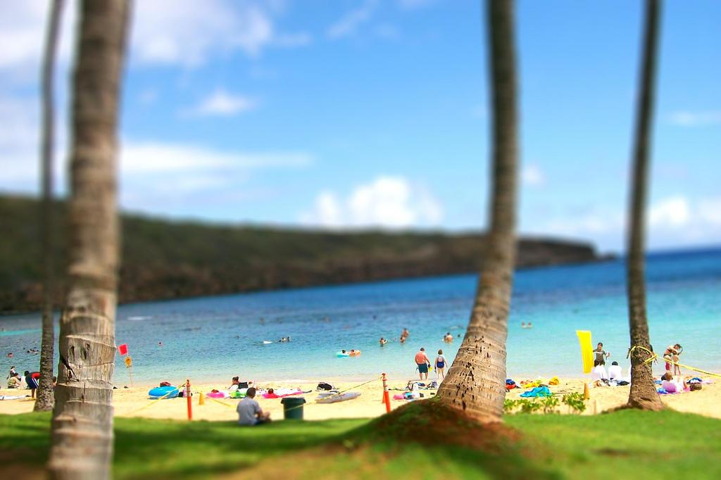 4145713178 195d3aeb49 b Земной рай   гавайский пляж внутри древнего кратера