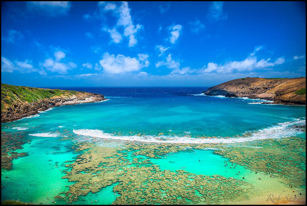 7298531060 9a9ebe8f33 b Земной рай   гавайский пляж внутри древнего кратера