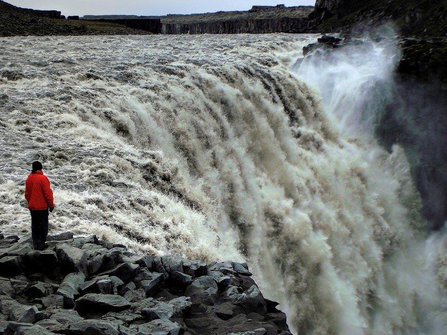 870 6531 Деттифосс   самый мощный водопад Европы