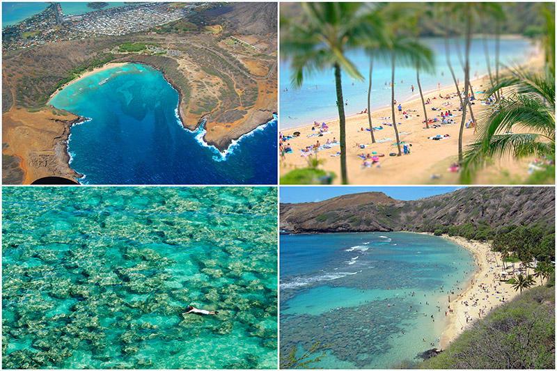BIGPIC9 Земной рай   гавайский пляж внутри древнего кратера