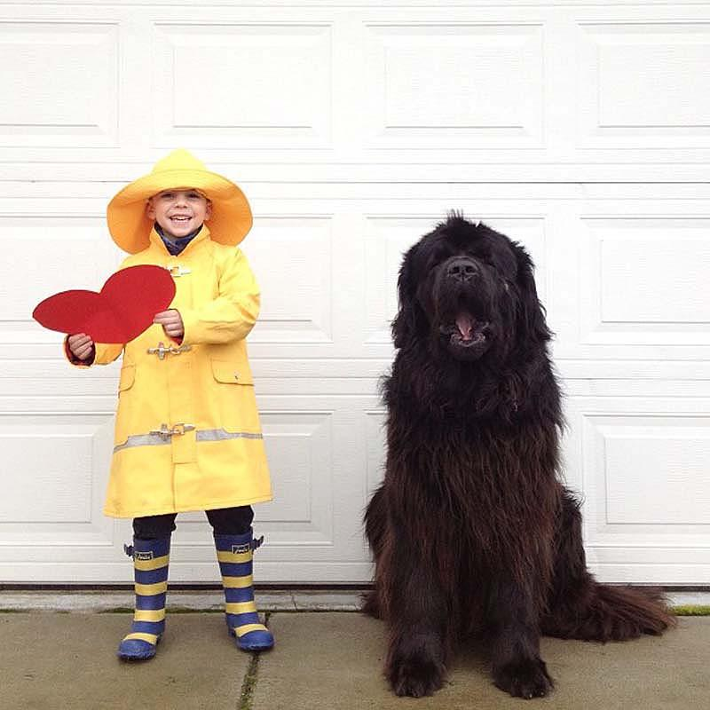 Genuine Love Between a Little Boy and His Big Dog 4 Маленький друг, большой друг