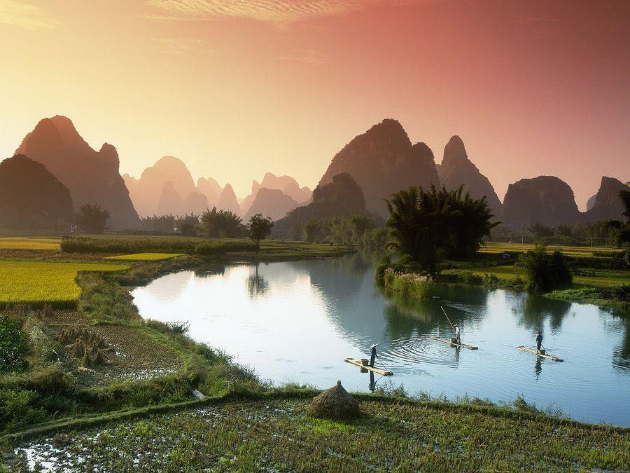 Riverof01 Красивые пейзажи китайской реки поэтов и художников