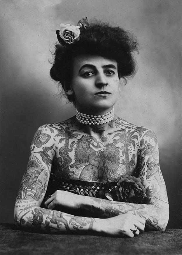 Women With Tattoo 1 Старинные портреты татуированных женщин