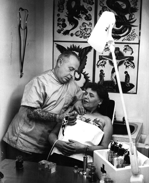 Women With Tattoo 12 Старинные портреты татуированных женщин