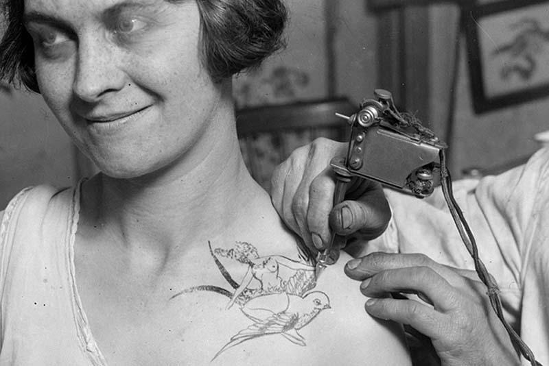 Women With Tattoo 14 Старинные портреты татуированных женщин