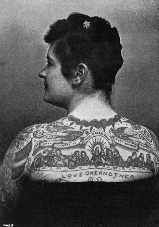 Women With Tattoo 17 Старинные портреты татуированных женщин