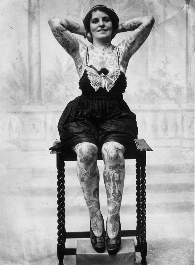 Women With Tattoo 4 Старинные портреты татуированных женщин