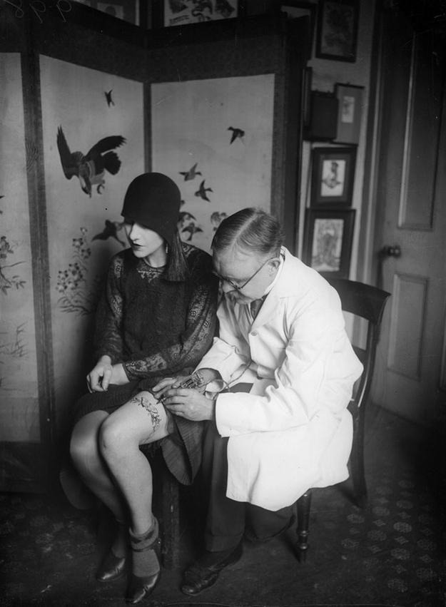 Старинные портреты татуированных женщин