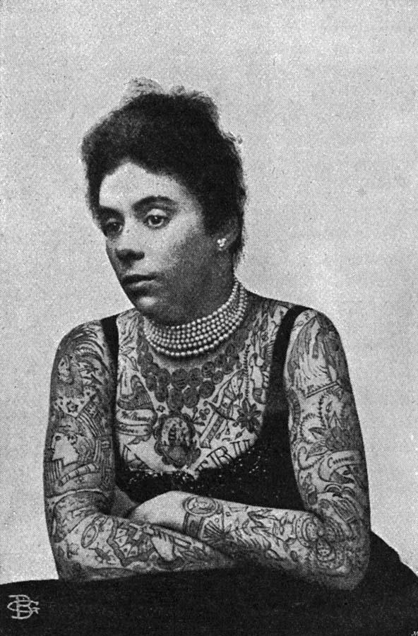 Women With Tattoo 8 Старинные портреты татуированных женщин