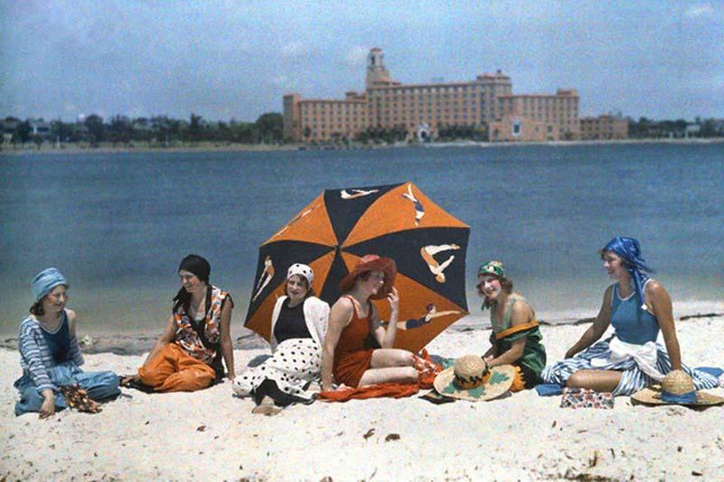 Санкт-Петербург и другие города Флориды в 1929 г. на цветных фото