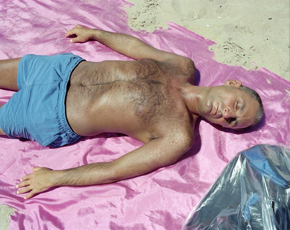 pink blanket Пляжники Кони Айленда
