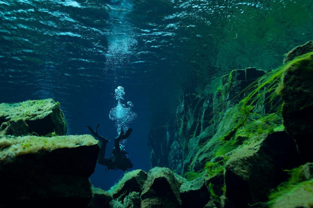 silfra05 Исландский разлом Силфра   меж двух частей света
