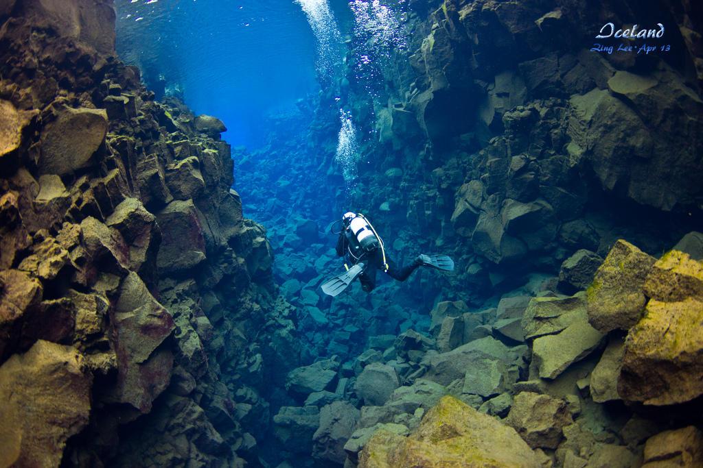 silfra07 Исландский разлом Силфра   меж двух частей света