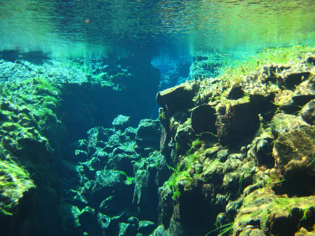 silfra09 Исландский разлом Силфра   меж двух частей света