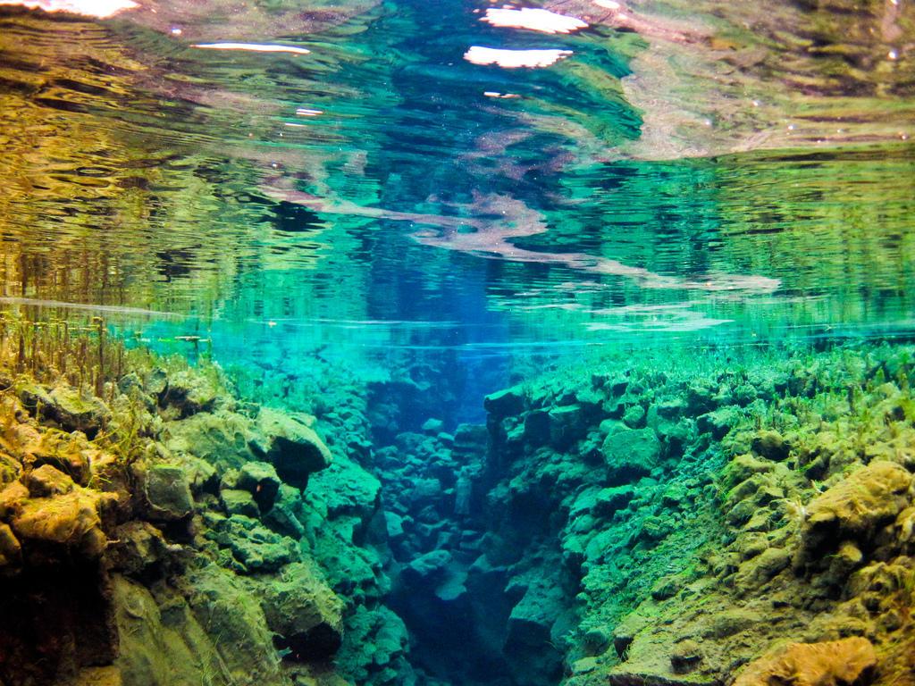 silfra11 Исландский разлом Силфра   меж двух частей света
