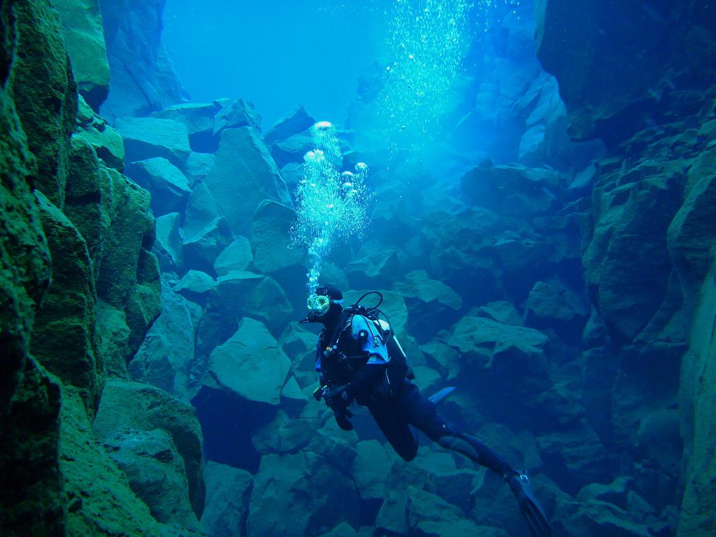 silfra12 Исландский разлом Силфра   меж двух частей света