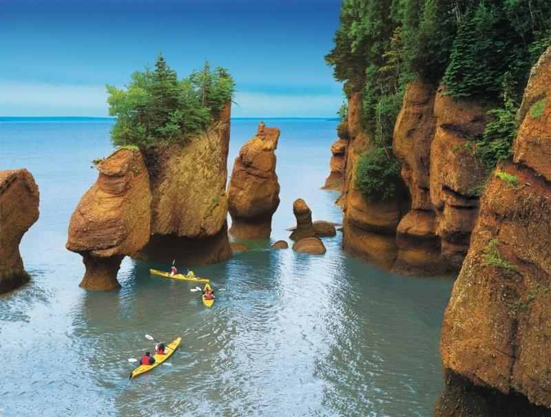 20111111 C4870 PHOTO FR 6509 1024x776 800x606 Природное чудо   скалы Хоупвелл в заливе Фанди