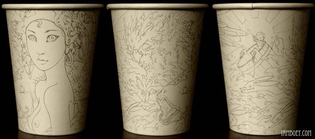 7411143430 76ef377713 b Арт на кофейных стаканчиках